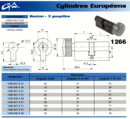 Grappin Annat Como Serrures Cylindre Europ 233 En